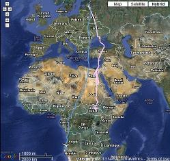 Migrační mapa Orlovce říčního