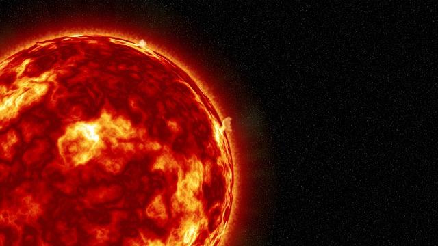 Detailní záběry Slunce