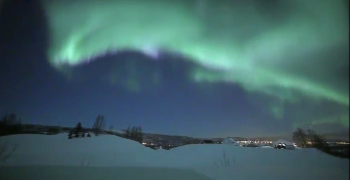 Polární záře Norsko – videozáznam