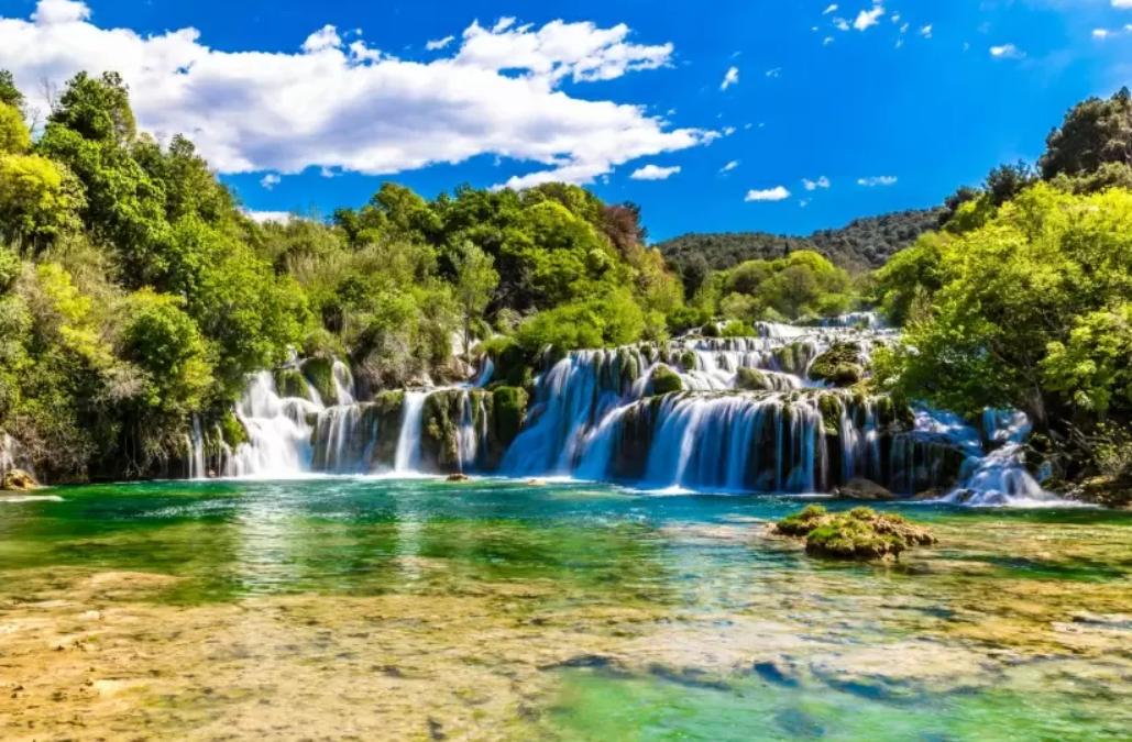 Fascinující vodopády v národním parku Krka